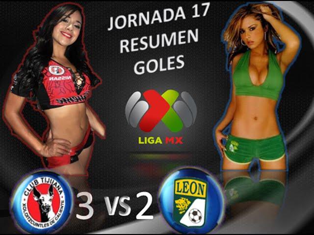 Xolos de Tijuana vs León 3-2 GOLES RESUMEN Jornada 17 Apertura 2014 Liga MX