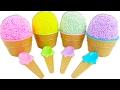 Foam Surprise Eggs Masha Hello Kitty Peppa Pig Car Learn Colors Play Doh Fun and Creative for Kids