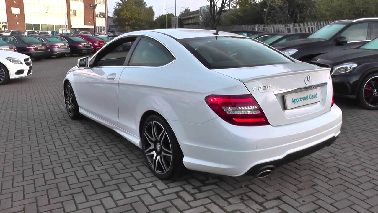 mercedes benz c class c220 cdi blueefficiency amg sport plus 2dr auto u22342 youtube. Black Bedroom Furniture Sets. Home Design Ideas