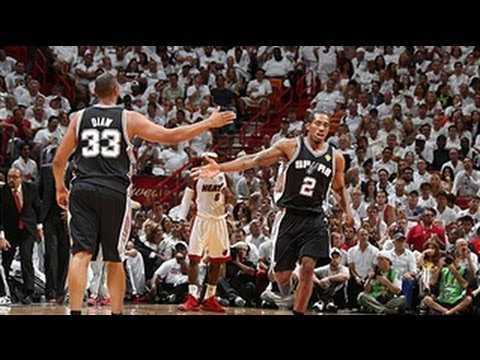 Spurs end 1st half of Game 6 on fire!