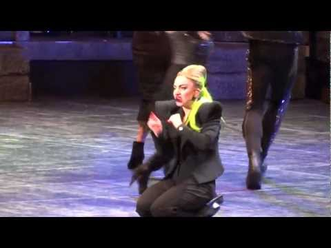 Lady Gaga Injured Herself During Scheie Live Montreal 2013 HD 1080P