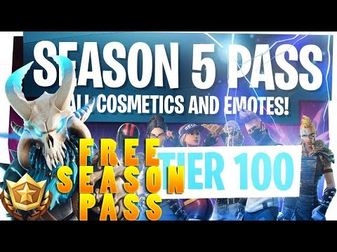 FREE SEASON 5 BATTLE PASS! FORTNITE HOW TO GET A FREE SEASON 5 BATTLE PASS! PC, PS4, XBOX, iOS