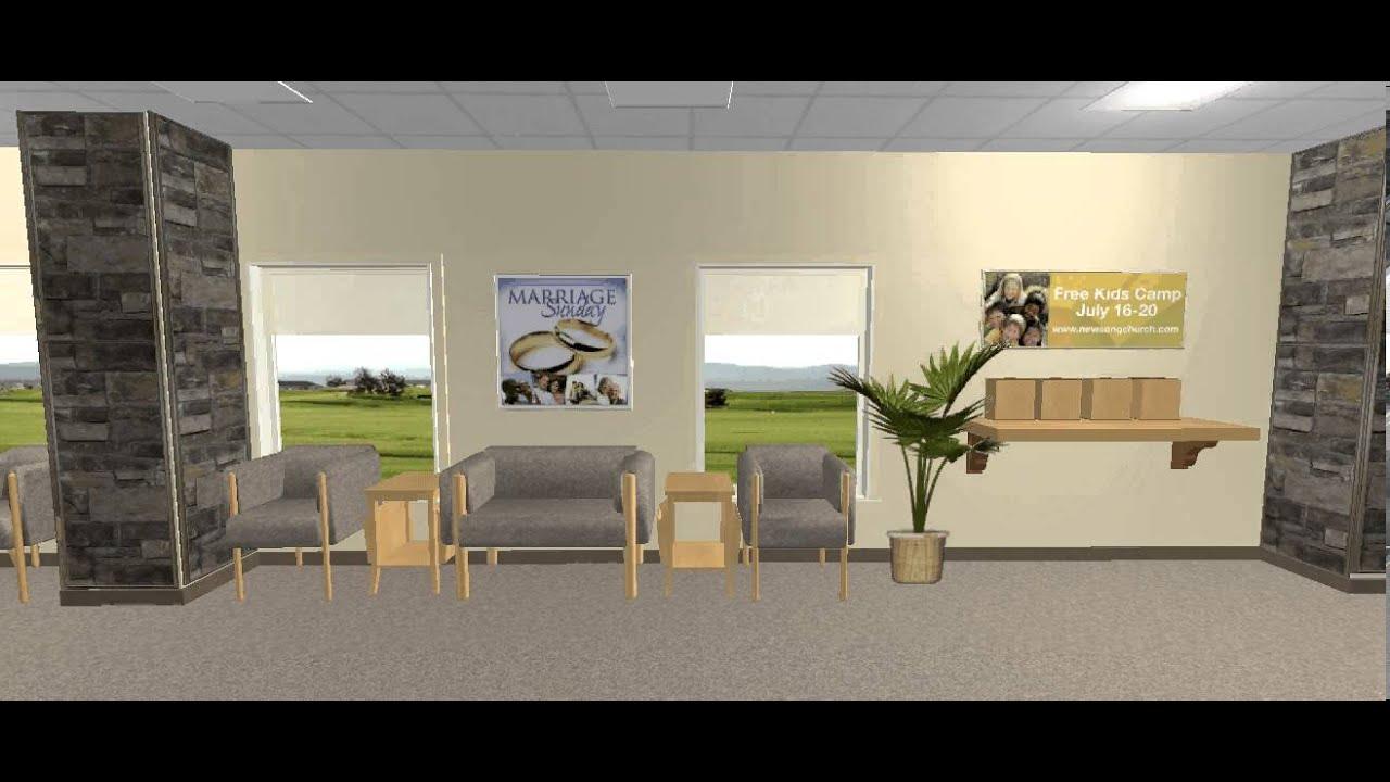 Church Foyer Furniture Ideas : Church foyer walkthrough youtube