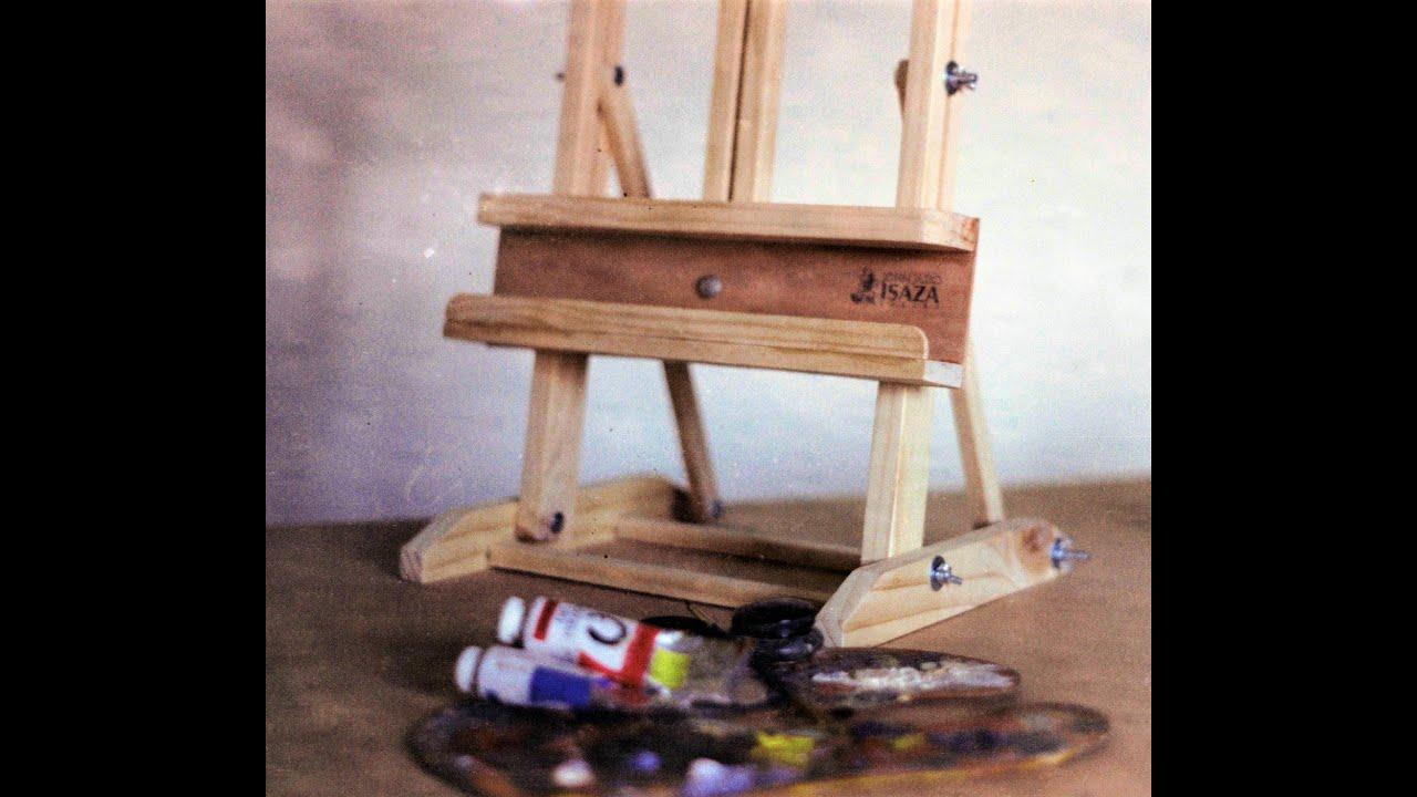 Caballetes en madera para pintores youtube - Caballetes de madera ...