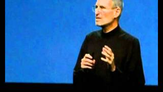 Steve Jobs giving presentation on the iPad