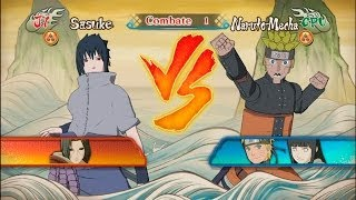 Naruto Shippuden Ultimate Ninja Storm Revolution DEMO - Sasuke vs Naruto-Mecha