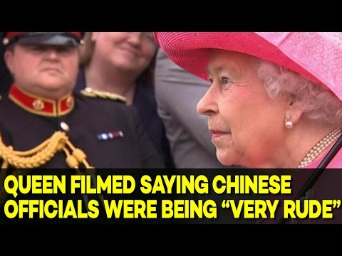 Queen Elizabeth Caught on Camera Saying Chinese Officials were 'Very Rude'