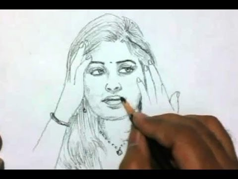 How To Draw A Beautiful Indian Girl video