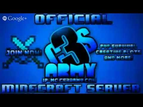 Official CS3Army.com Minecraft Server! (PVP Survival, Creative Plots, and More!)