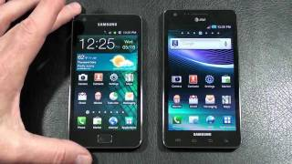 Samsung Galaxy S II vs Samsung Infuse 4G Face Off