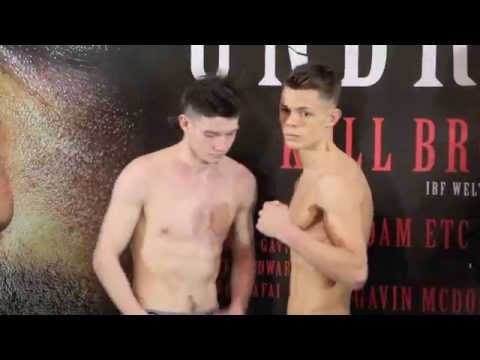 CHARLIE EDWARDS v MIKHEIL SOLONINKINI - OFFICIAL WEIGH IN VIDEO FROM SHEFFIELD - 'UNBREAKABLE'