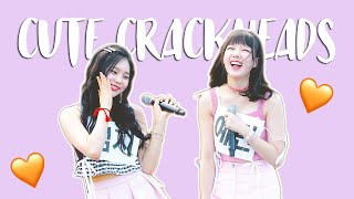 gfriend being cute crackheads on stage