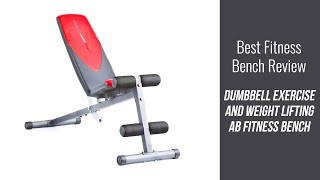 Fitness Bench Review - Dumbbell Exercise and Weight Lifting Ab Fitness Bench
