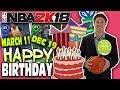 NBA PLAYERS BIRTHDAYS! NBA 2K18 SQUAD BUILDER -