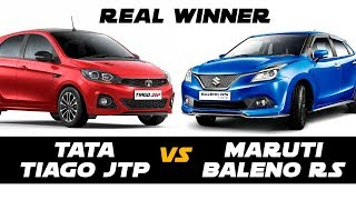 Tata Tiago JTP vs Baleno RS- Car Compare