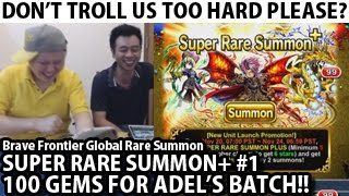 Brave Frontier Global 100 Gems Super Rare Summon Plus For Adel's Batch (With Milko)#1