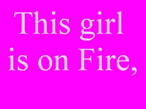 Alicia Keys ft. Nicki Minaj, girl on fire lyrics!