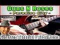★Play Guns N Roses PARADISE CITY Intro Solo Melodie | + TABS E Gitarre Tutorial Deutsch