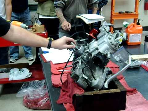 2-stroke flywheel removal and engine disassembly part 1 Western Iowa Tech Community College
