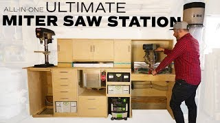 Miter Saw Station // Flip top Workbench // Router table