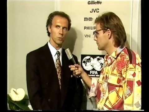 WM 1990: Beckenbauer gibt Interview nach Holland-Spiel