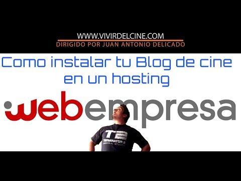 Como instalar tu blog de cine Wordpress en webempresa