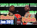 Badou Jack vs James DeGale - Jan. 2017 - WBC & IBF World Super Middleweight Championship