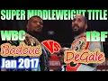 Badou Jack vs James DeGale - Jan. 2017 - WBC & IBF World Super Middleweight Championship