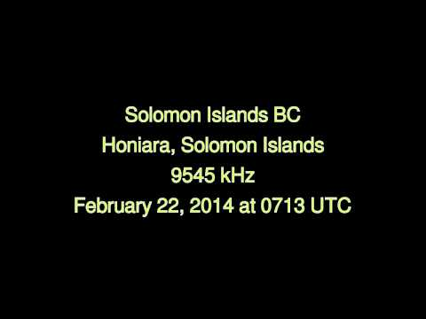 Solomon Islands Broadcasting Corporation (Honiara, Solomon Islands) - 9545 kHz