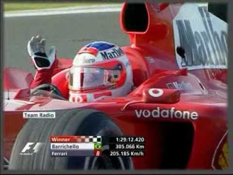 Barrichello's team radio - Shanghai 2004