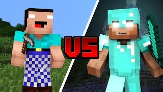 NOOB HEROBRINE vs PRO HEROBRINE - Minecraft
