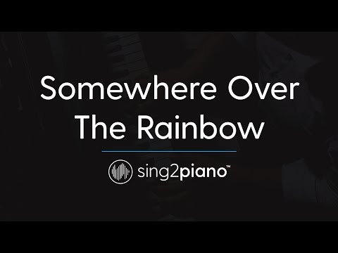 Somewhere Over The Rainbow (Piano Karaoke Instrumental) Ariana Grande
