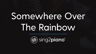 Somewhere Over The Rainbow Piano Karaoke Instrumental Ariana Grande