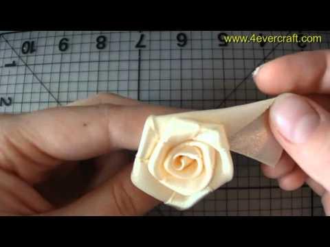по созданию розы из ленты