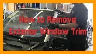 How to Remove Exterior Window Trim - 2002-2008 B6-B7 AUDI A4 CABRIOLET