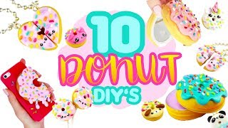 10 DIY's - DONUT theme! - Polymer Clay Compilation!
