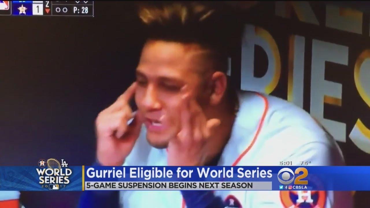 Astros' Gurriel Gets 5-Game Suspension Next Season For Racist Gesture; Will Not Miss World Series