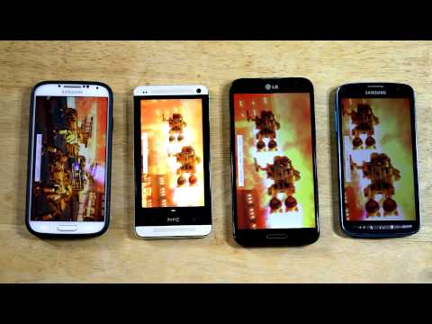 Benchmarks! Samsung Galaxy S4 Active! (LG Optimus G Pro. HTC One. and Plastic GS4)