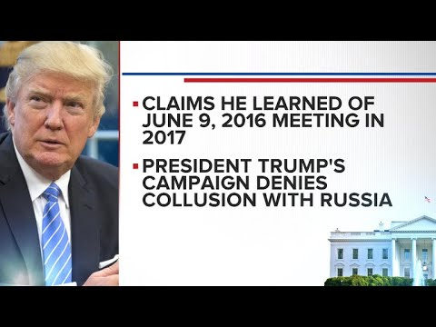 Trump denies knowledge of 2016 Trump Tower meeting with Russian lawyer