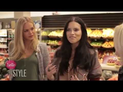 Angels Adriana Lima & Erin Heatherton Rock The Market