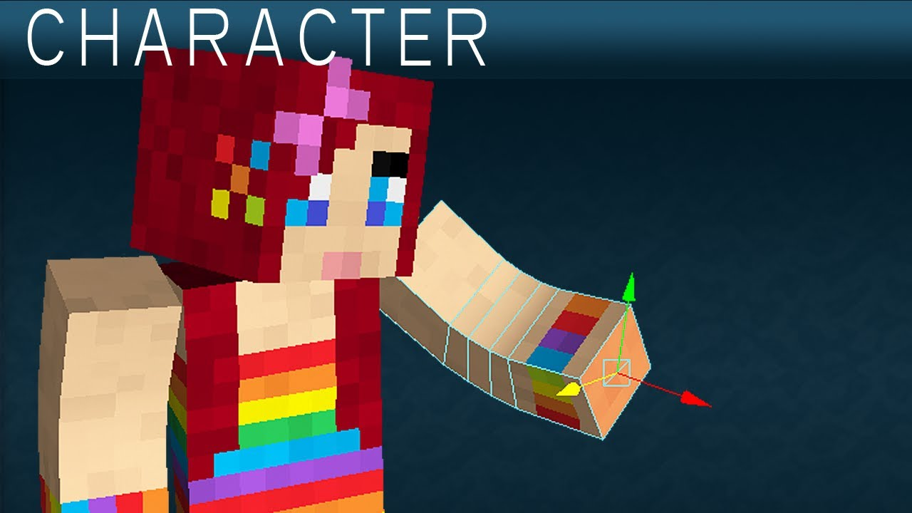 Make your own minecraft character in 3d youtube Minecraft 3d model maker