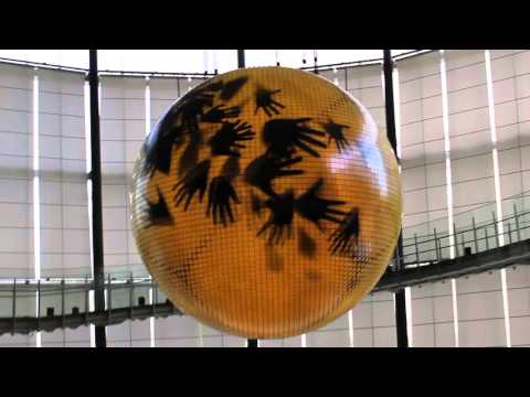 Geo-Cosmos Globe Hands Video at Miraikan, Tokyo