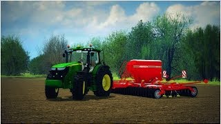 John Deere 7230R - Seeding wheat