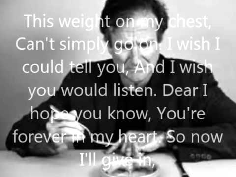 Robin Williams last words [suicide letter]