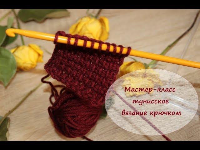 Мастер-класс. Тунисское вязание крючком. Вязание для начинающих.