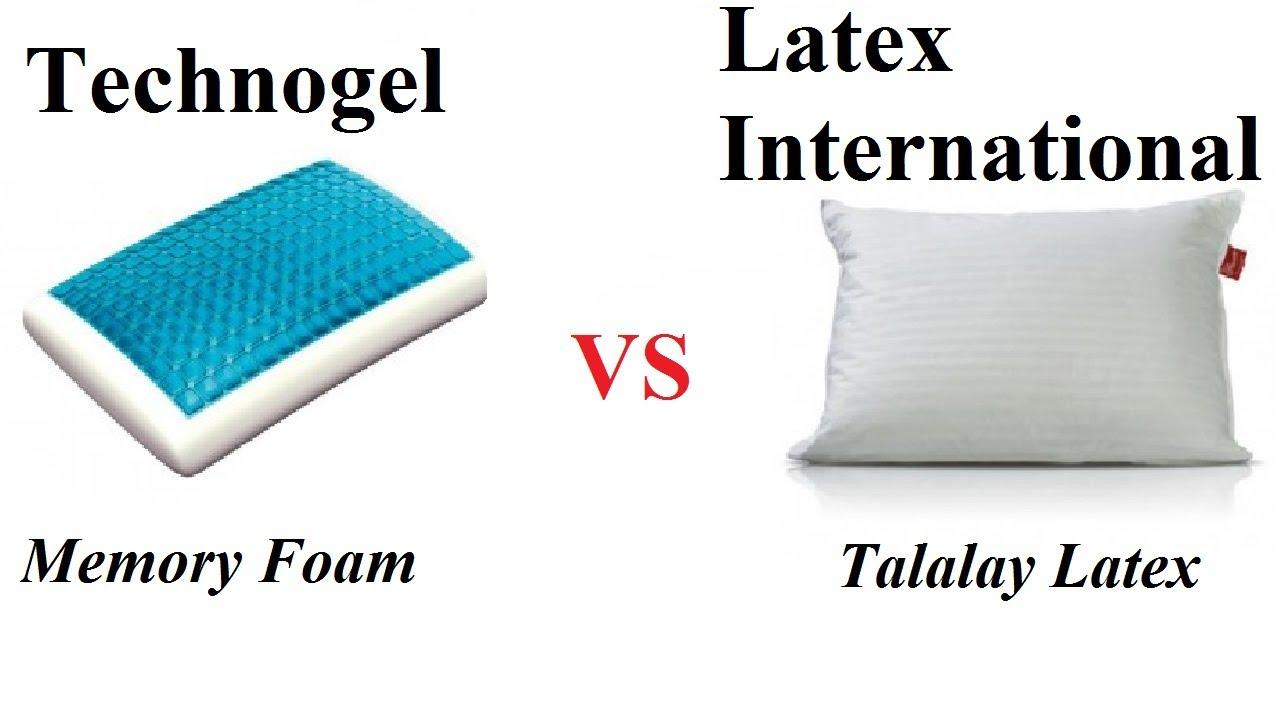 gel memory foam vs latex technogel vs latex international youtube. Black Bedroom Furniture Sets. Home Design Ideas