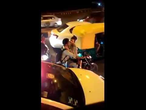 Delhi Couple kissing ' Hot Scene In Public Road At Drive Bike  || OMG In Delhi thumbnail