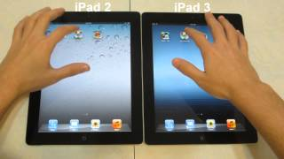 iPad 2 vs iPad 3 Speed Comparison [HD]