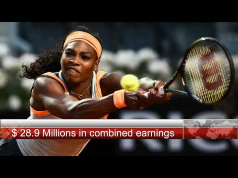 Serena Williams is now the highest paid sports woman in the world.