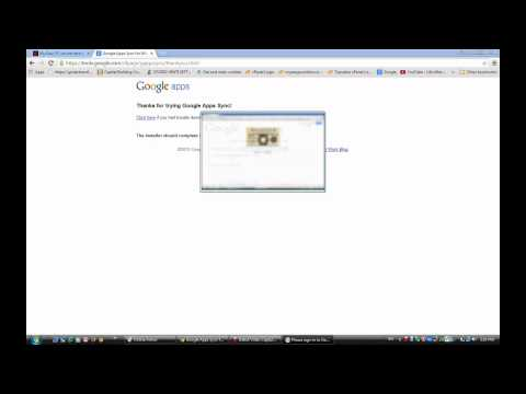Google Apps Sync Setup for MS Outlook